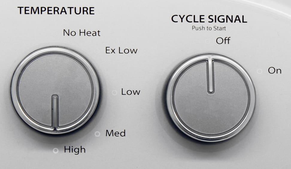 Whirlpool WED4915EW Controls