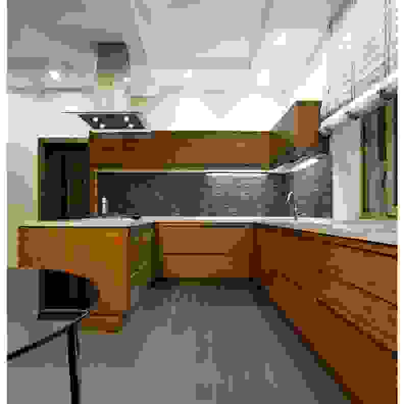 MS International Wood Grain Tile Kitchen Flooring