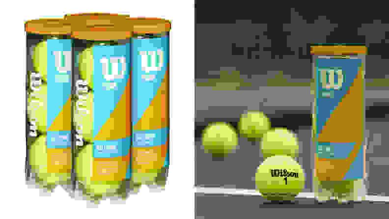 The Wilson Prime All Court 4-pack tennis balls.