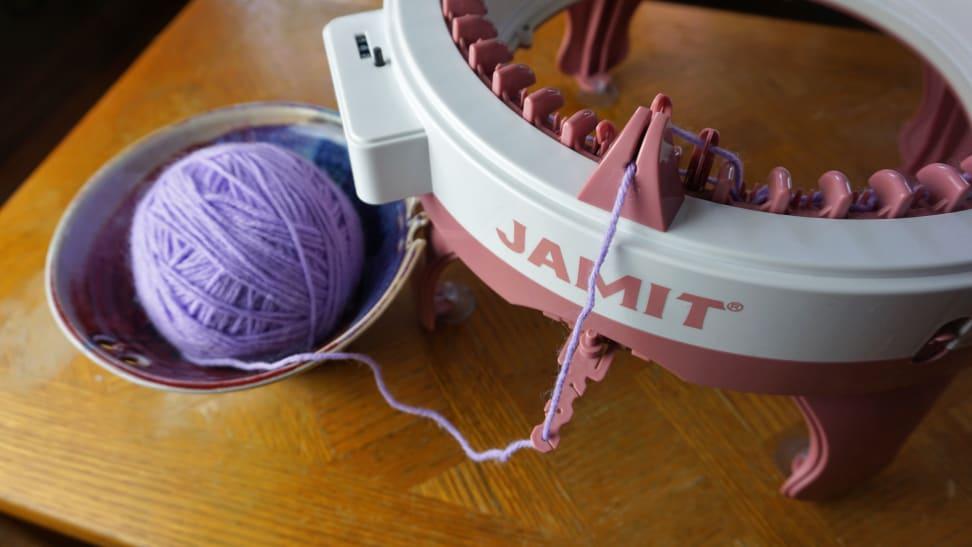 Top Down view of the Jamit Knitting Machine