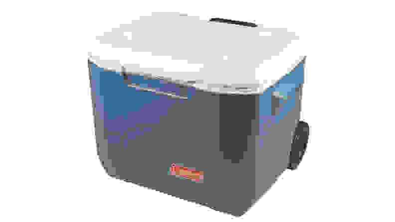 A Coleman Xtreme Wheeled Cooler against a white background.