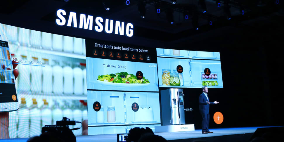 Samsung's press conference at CES 2016 showed off appliances with all-new features.