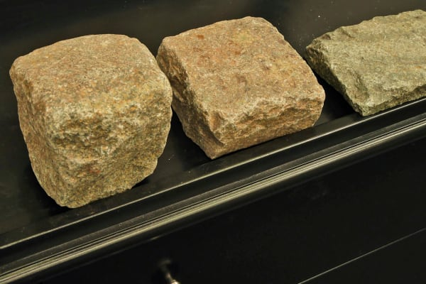 Various cuts of cobblestone