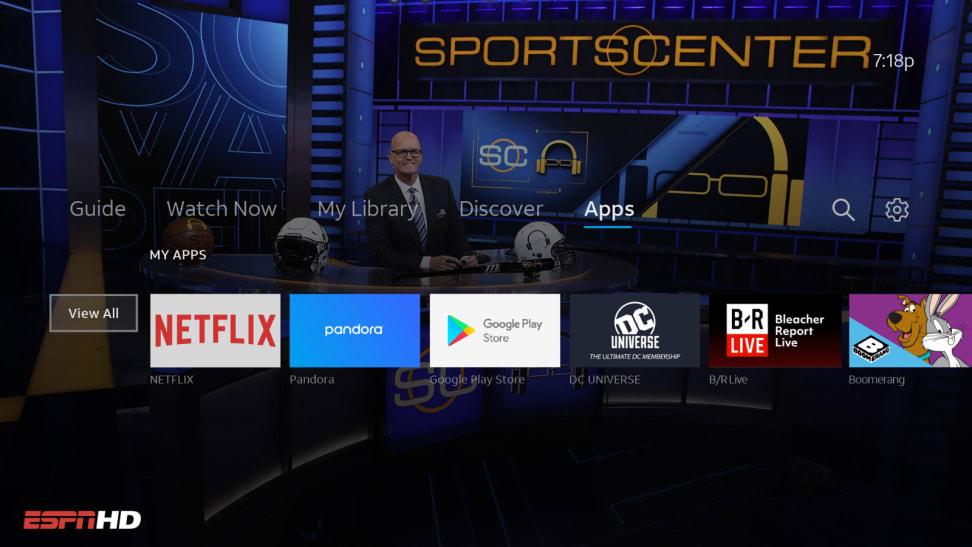 Screenshot of AT&T TV screen