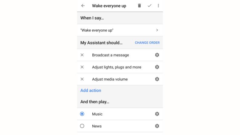 Google Home Wake Everyone
