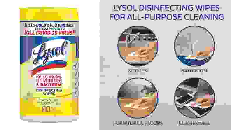 Lysol Wipes Clean Dorm Essentials