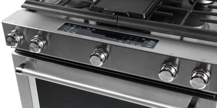 kitchenaid ksdb900ess dual fuel slide in range review reviewed com