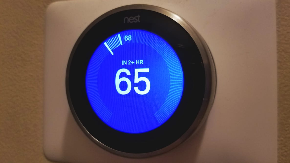 Nest Learning Thermostat display