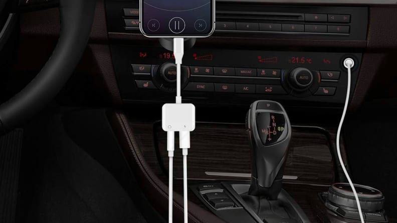 iNassen Lightning Audio Headphone Adapter +Charger to 3.5mm