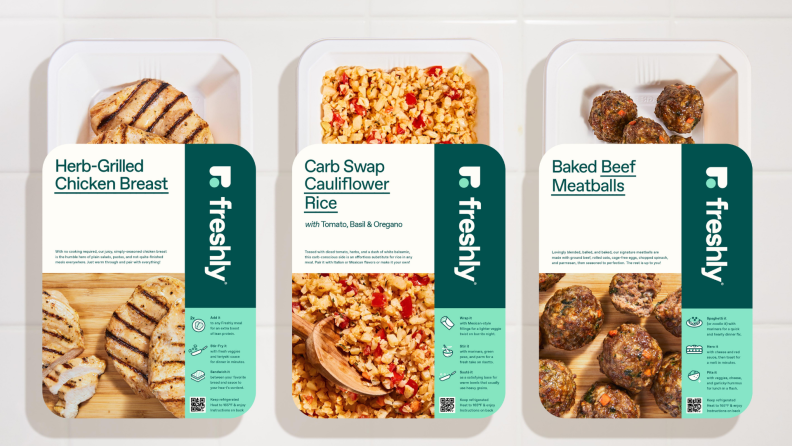 Freshly proteins and sides in packaging