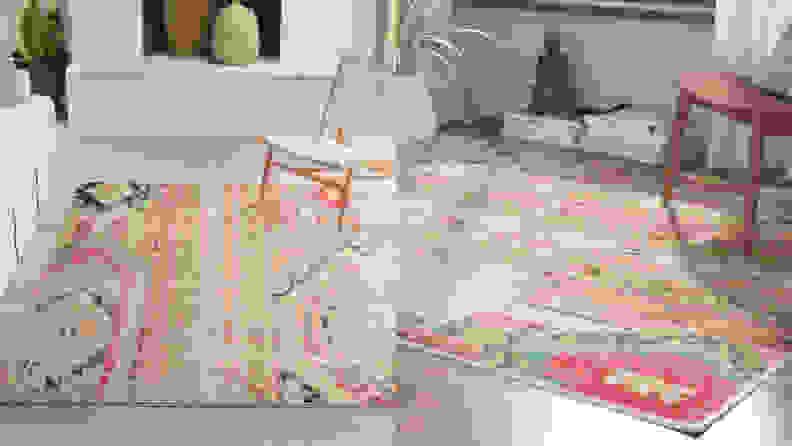 Newburyport Orange/Blue/Pink Area Rug