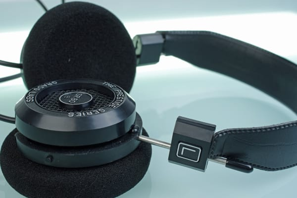 Grado's SR80e open-backed headphones let neighbors hear your music.