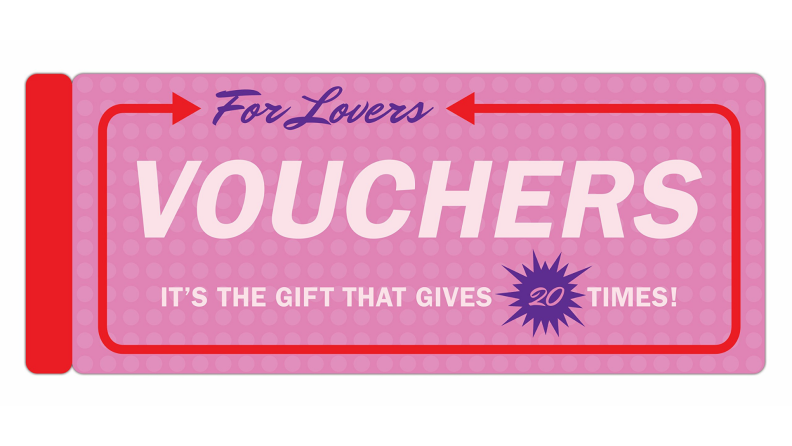 A pack of lover's coupons.