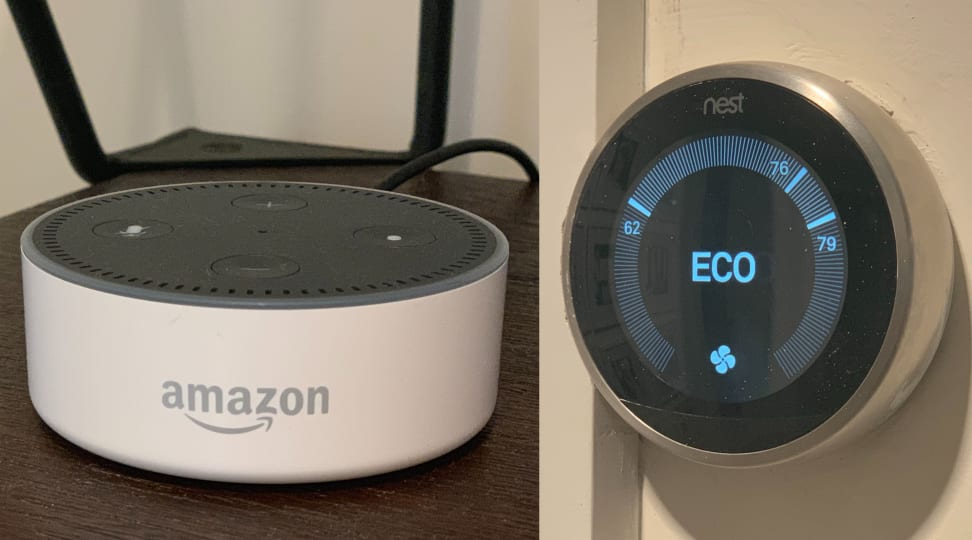 Amazon Dot Dot and Nest Thermostat