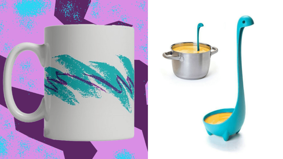 90s mug and Lochness monster soup ladle