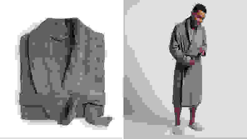 Man wearing Parachute robe