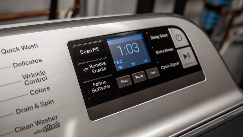 Maytag MVW7230HW Washing Machine Review — Controls