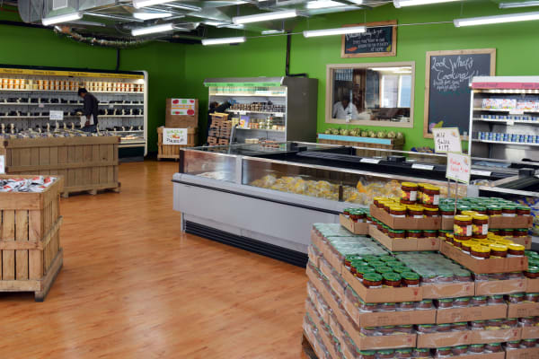 Fifty percent of sales currently come from premade food—ranging from soups and sides to full entrees—all available in the refrigerated section of the store.