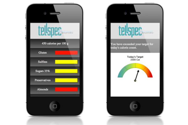 Another image of the TellSpec app.