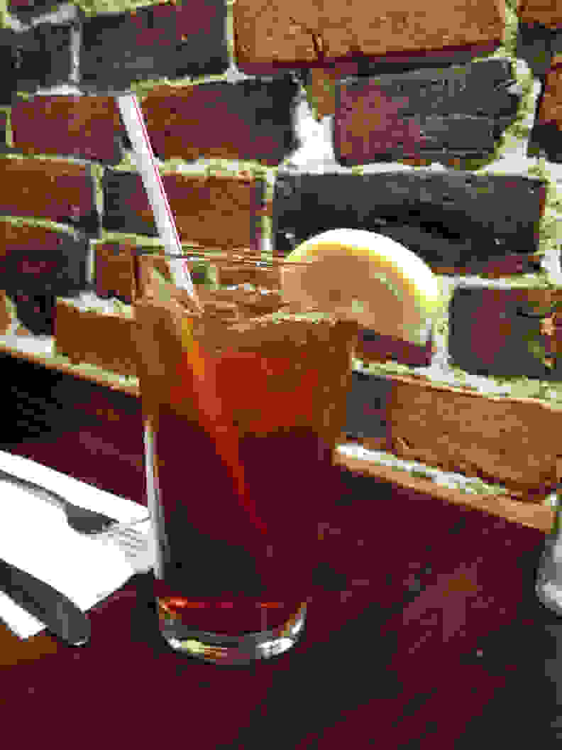 At small sizes such as on your phone or laptop, this image of a glass taken in a dim restaurant looks fine.