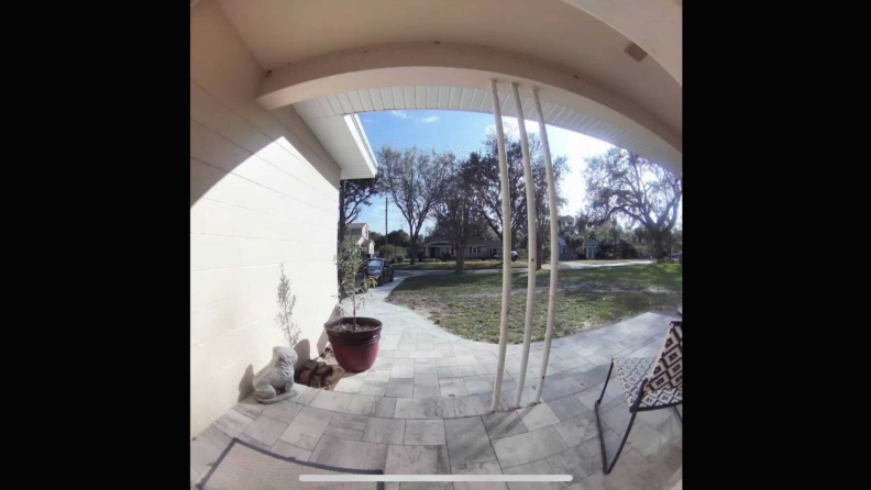 Arlo Essential Wire-Free Video Doorbell daytime view