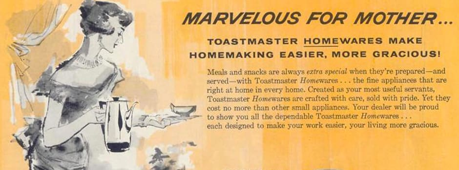 Vintage advertisement for Toastmaster products
