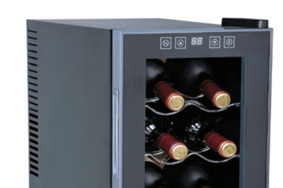 you might want to invest in this wine cooler if you are an enthusiast with limited space - Home Depot Wine Fridge