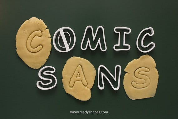 Comic Sans Cookie Cutter
