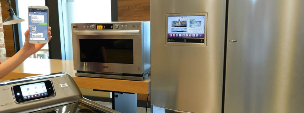 The line of LG smart appliances with HomeChat.
