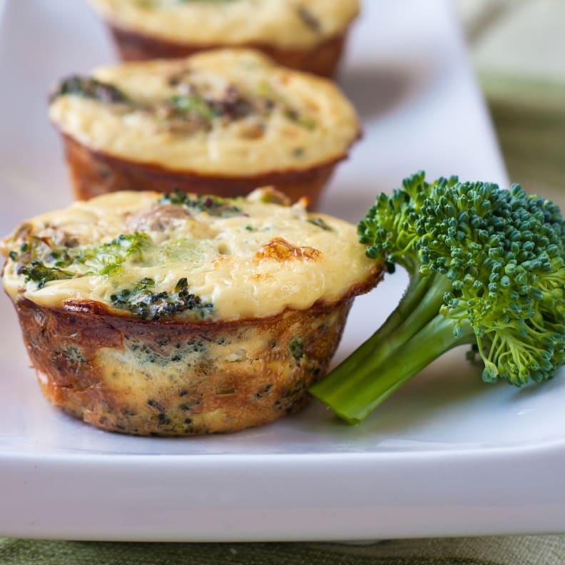Broccoli-Mushroom Frittatas