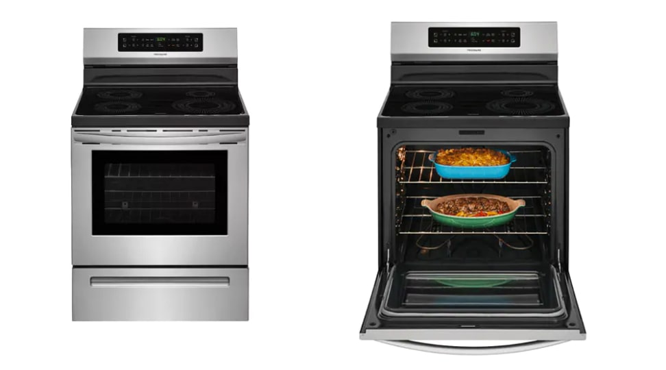 Frigidaire FFIF3054TD front open and closed