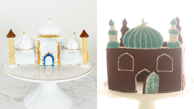 Two examples of gingerbread mosques.
