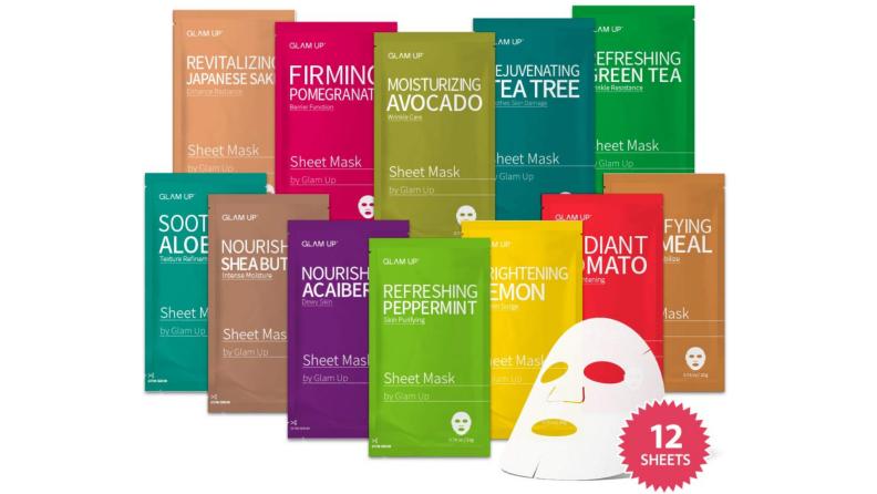 Glam Up Facial Sheet Mask BTS 12 Combo