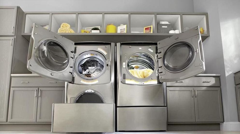 The LG WM9000 laundry pair.