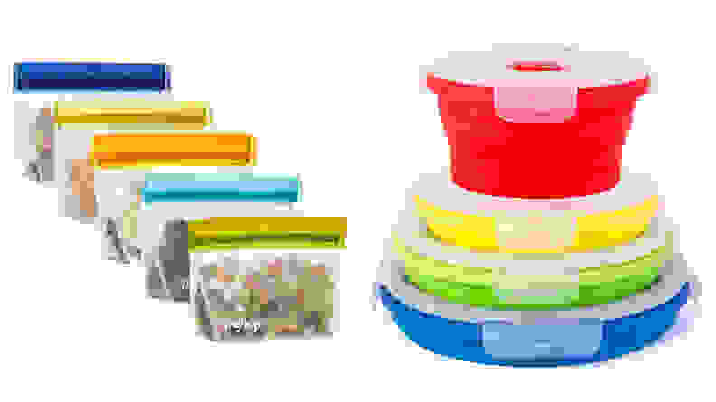 Compact food storage containers