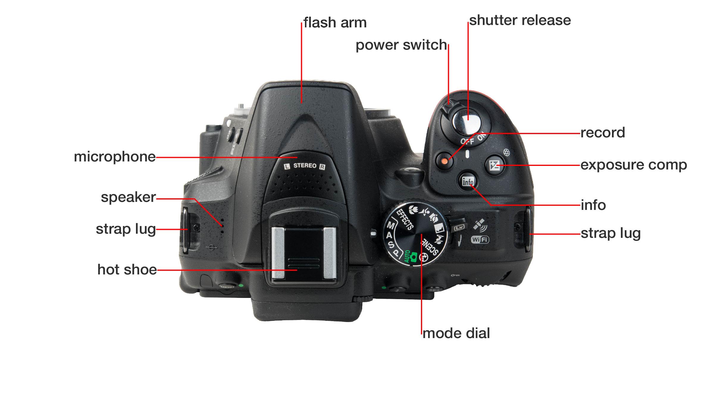 Top of Nikon D5300