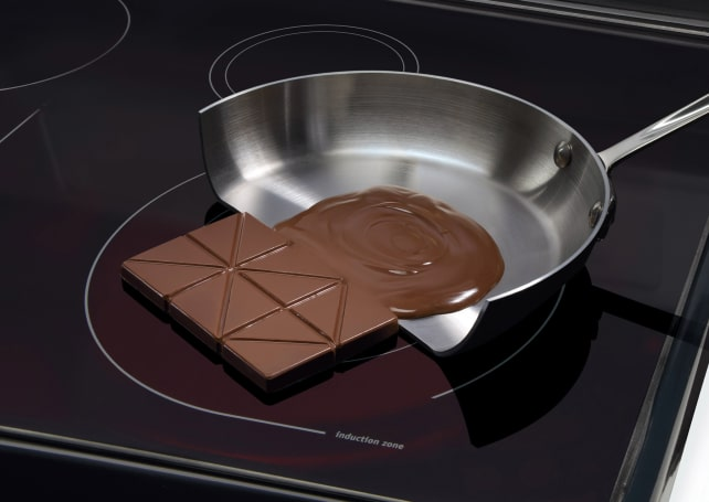 Induction-cooktop-melting-chocolate
