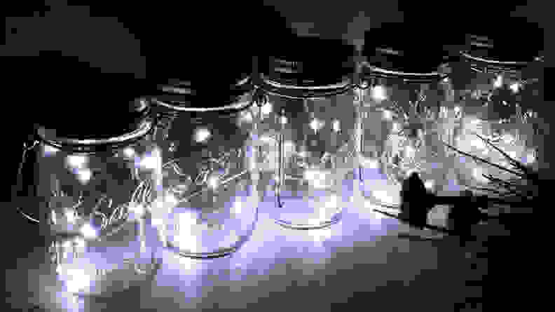 Fonhrrl Hanging Mason Jar Lights