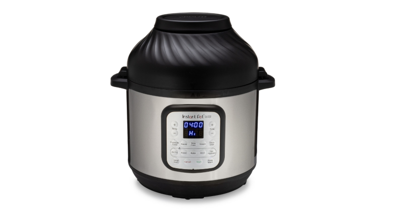 An image of an Instant Pot Duo Crisp and Air Fryer on a white background.