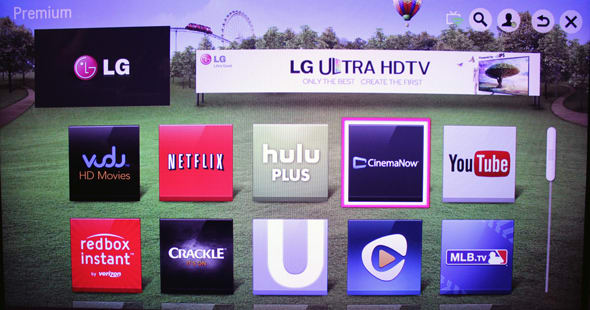 LG includes a good selection of streaming options.