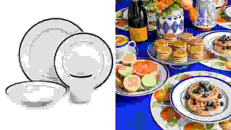 Brasserie Porcelain 16-Piece Dinnerware Set