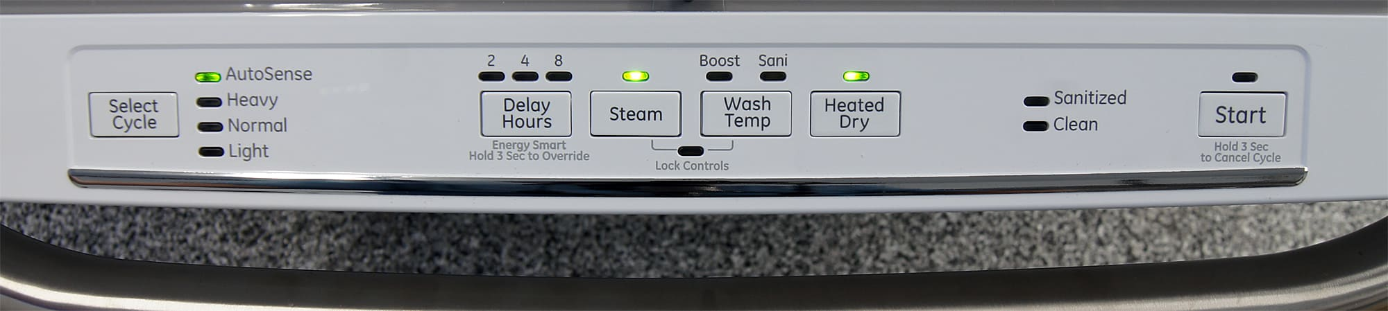 GE Artistry ADT521PGFWS controls