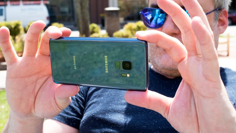 Samsung Galaxy S9 Camera in Use