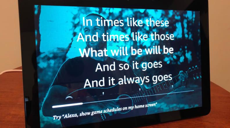Amazon Echo Show Lyrics