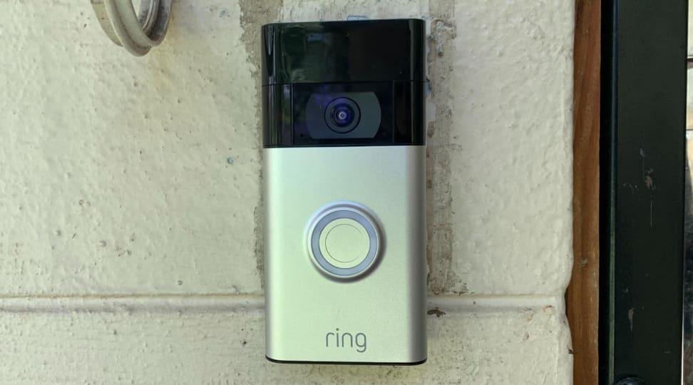 Ring Video Doorbell (second-gen) against house exterior
