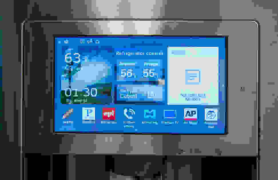 The tablet interface of the Samsung RF28HMELBSR