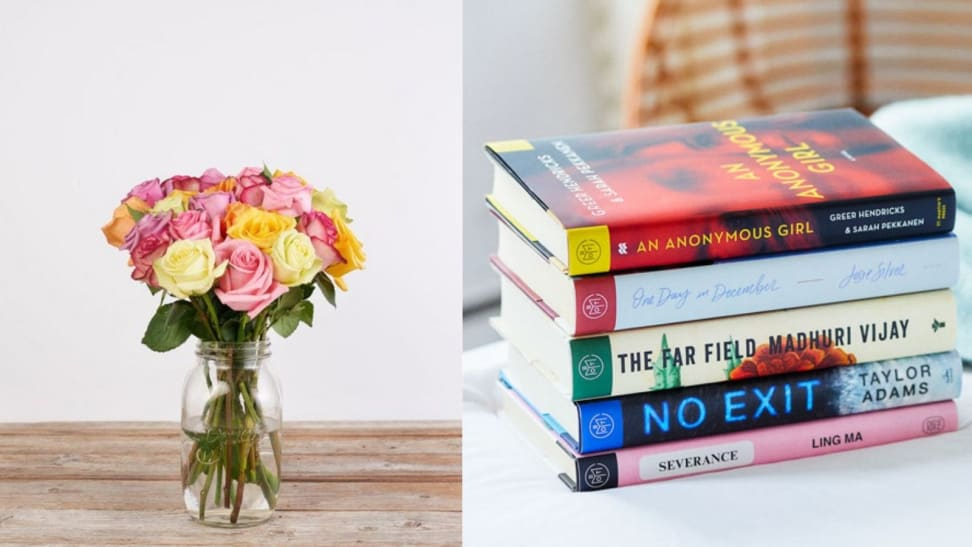 Bouqs Bouquet and Book of The Month Books