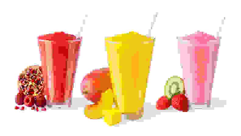 Frozen fruity drinks