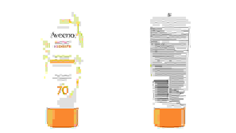 A photo of the Aveeno Protect + Hydrate Sunscreen Broad Spectrum SPF 70.