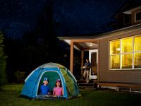Backyard camping makes staycatios fun
